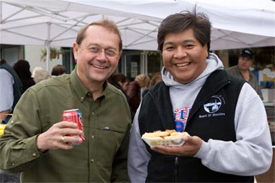 Rod Pfleiger, Alaska Cruise Association and Keith Perkins, Chamber of Commerce board member